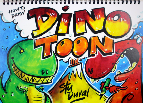 How to draw Dino Toon