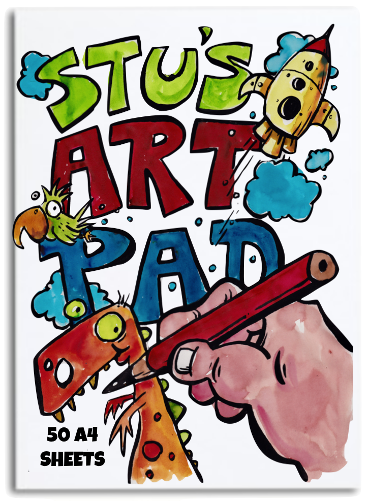 Stu's Art Pad - 50 Sheets for Drawing