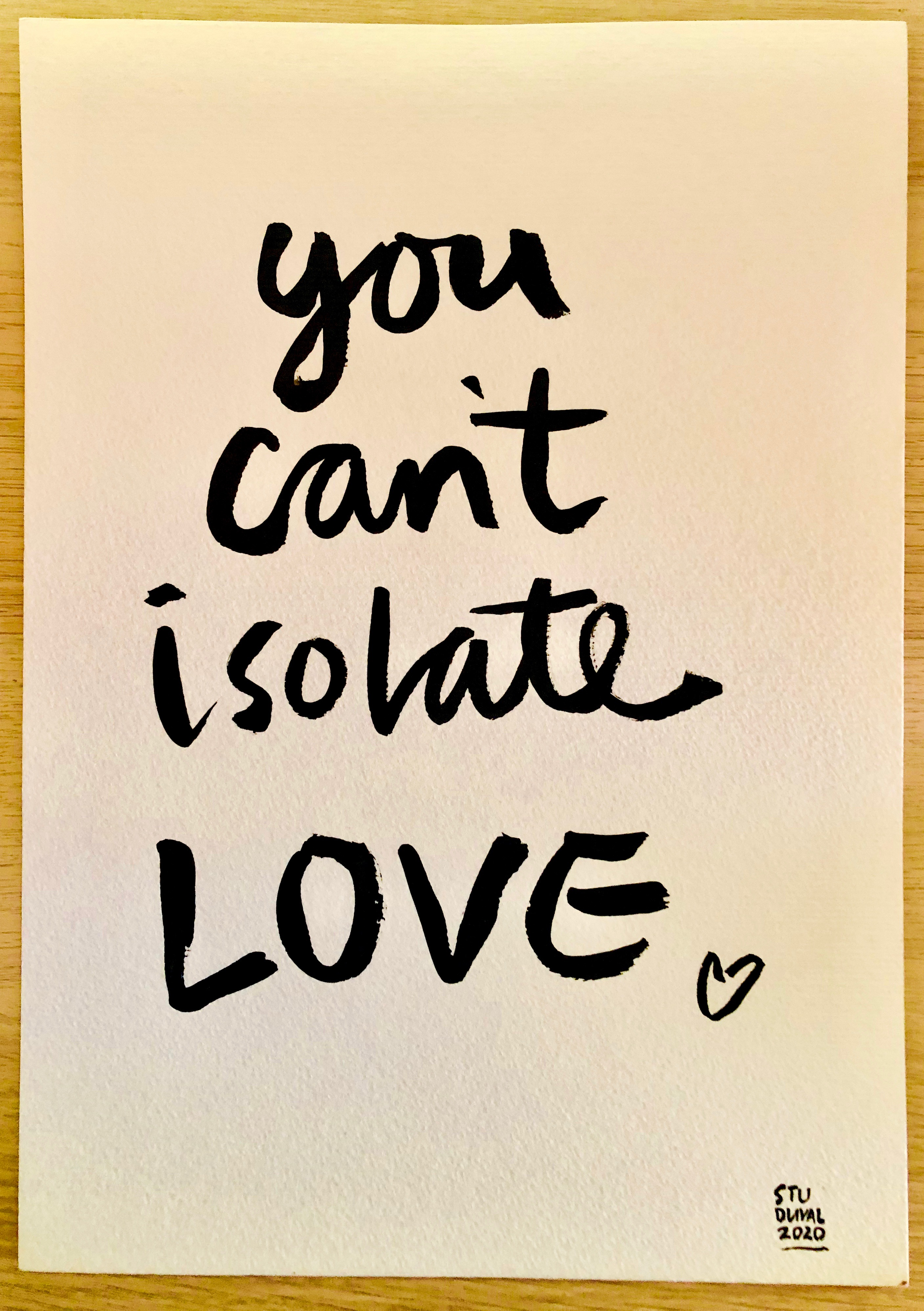 You Can't Isolate Love